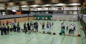 Blick auf das gesamte Wettkampffeld Rheinlandliga 2015 in Tönisvorst