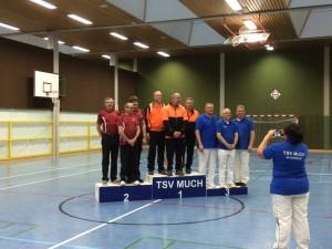 Mannschaft Recurve Altersklasse: Bernd Roffalski, Pierre Pick und Rüdiger Knüpfer