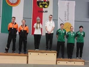 Siegerehrung Recurve Junioren Mannschaft