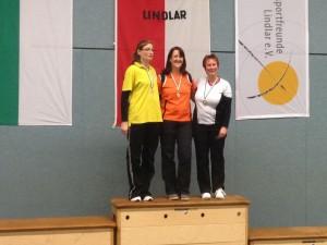 Siegerehrung Compound Damenklasse LM Halle 2016 RSB