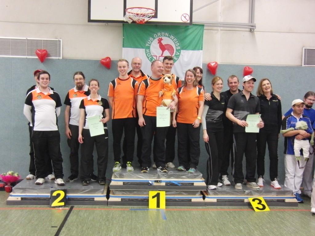 1. Platz BSC Vorgebirge Bornheim; 2. Platz BSG Aachen; 3. Platz SSK Krefeld