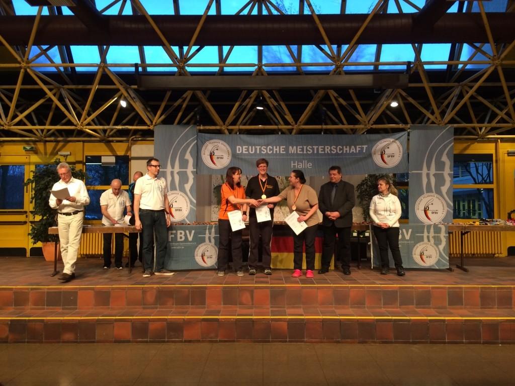 DM DFBV  Halle 2016 Heike Bumke 2. Platz