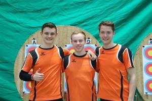 Juniorenmannschaft mit Christoph, Marco und Markus