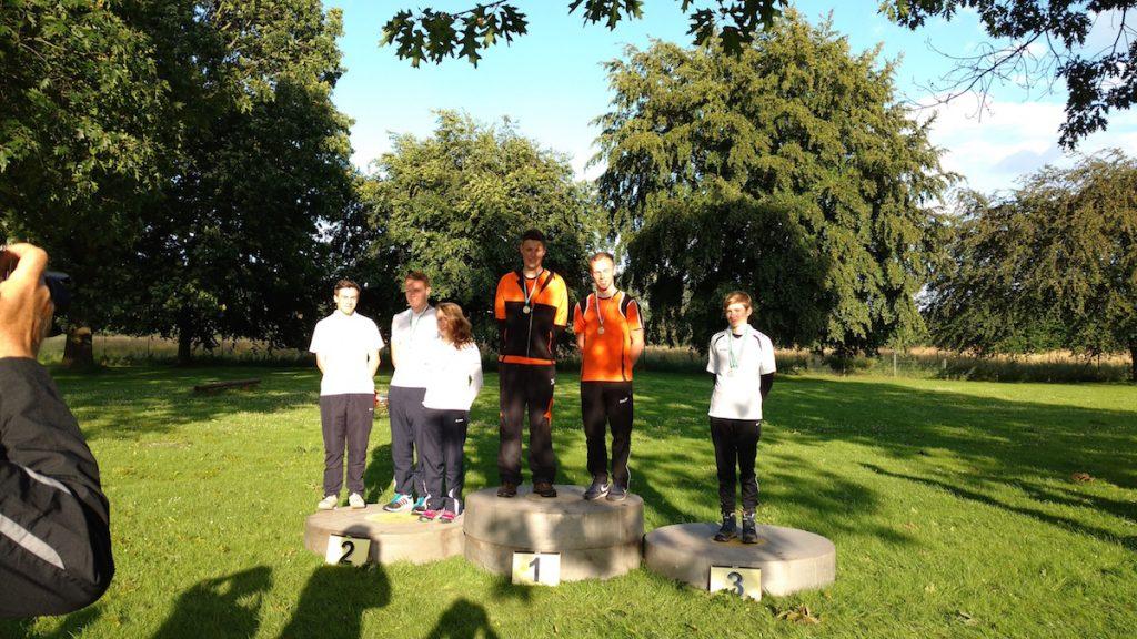 Siegerehrung Junioren Recurve Mannschaft