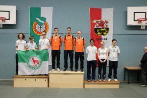Siegerehrung der Juniorenmannschaft mit Christoph, Markus und Marco