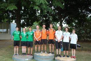 Landesmeister Juniorenmannschaft mit Marco, Christoph und Markus