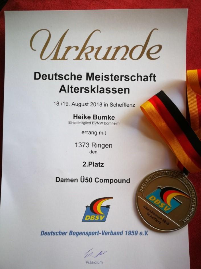 DM DBSV Schefflenz Urkunde